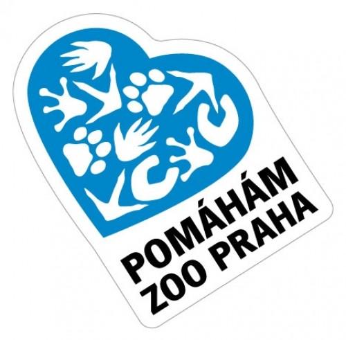 Samolepka Pomáhám Zoo Praha - modrá