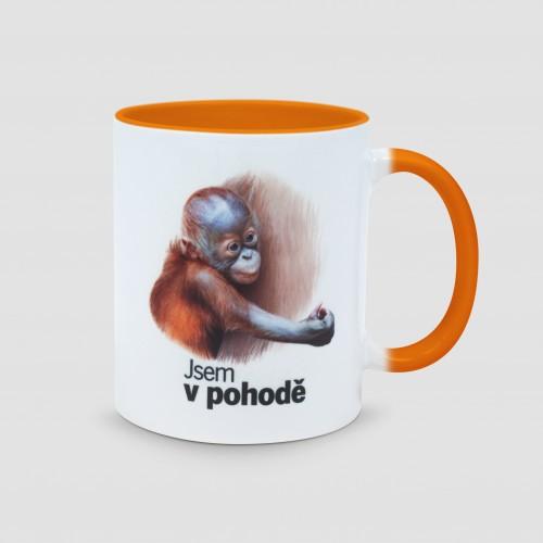 Hrnek s motivem mláděte orangutana sumaterského