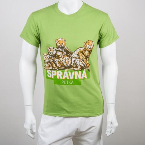 """fd443cf0f962 Pánské tričko """"Správná pětka"""" gepard"""