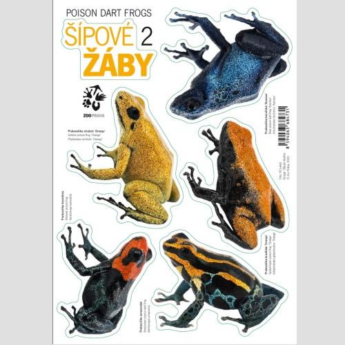 Samolepky s motivem šípových žab