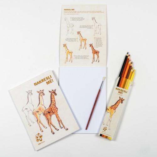 Nakresli mě ! – žirafa severní núbijská
