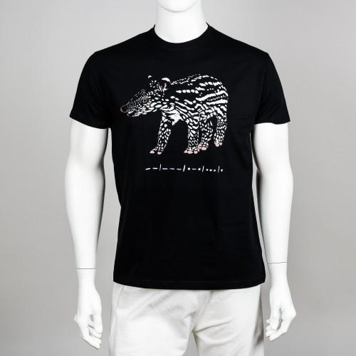 Bavlněné pánské tričko s motivem mláděte tapíra čabrakového