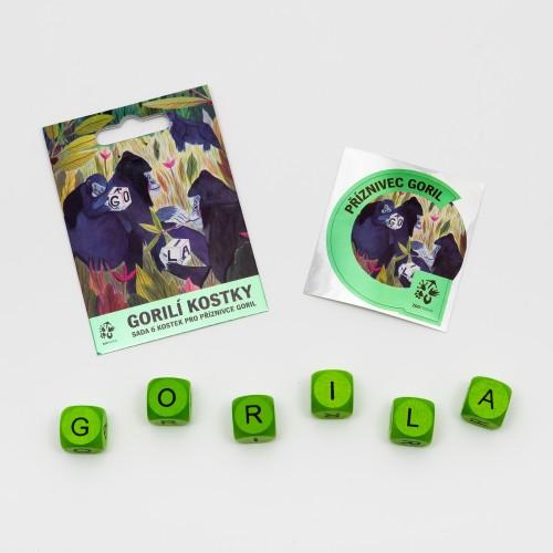 Gorilí kostky – sada 6 ks