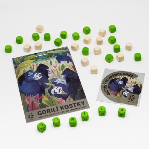 Gorilí kostky – sada 100 ks
