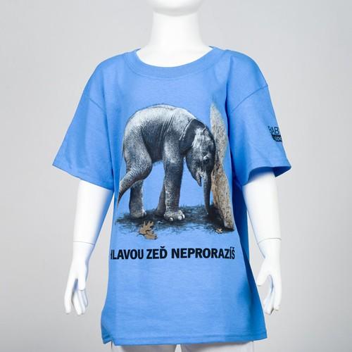 """Dětské tričko s motivem """"Hlavou zeď neprorazíš"""""""