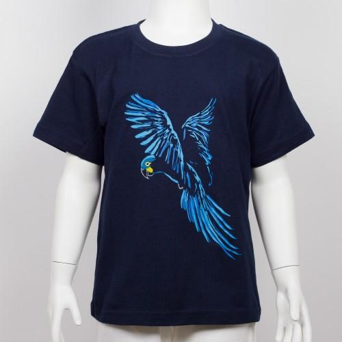 Bavlněné dětské tričko s motivem papouška - ara Learův