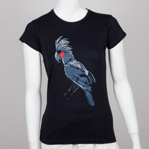 Bavlněné dámské tričko s motivem papouška – kakadu palmový