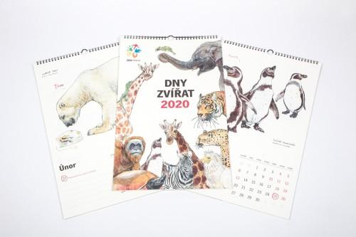 """Nástěnný kalendář  """"Dny zvířat 2020"""""""