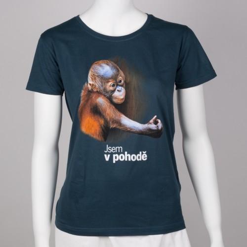 Dámské tričko s motivem mláděte orangutana sumaterského