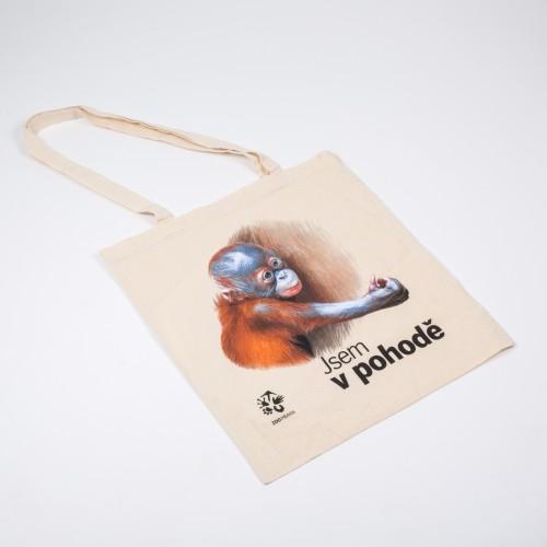 Látková taška s motivem mláděte orangutana sumaterského