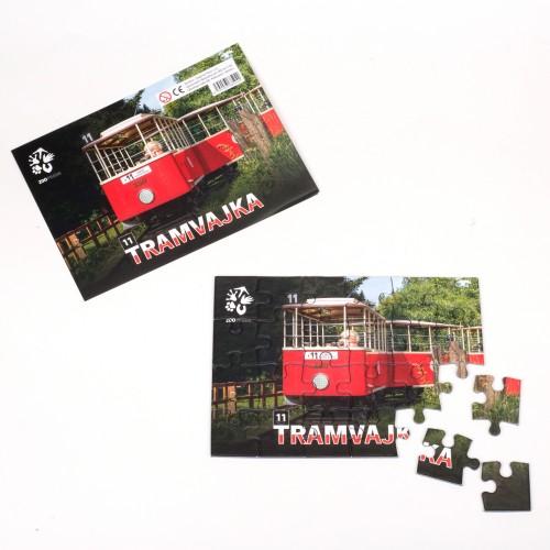 Puzzle – dětská tramvajka ze Zoo Praha
