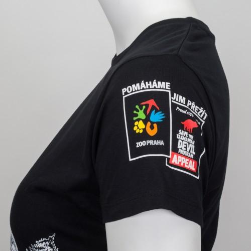 Dámské tričko KRMÍM ĎÁBLY - černé