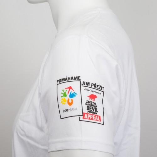 Pánské tričko KRMÍM ĎÁBLY - bílé