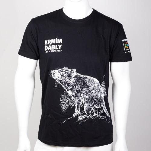 Pánské tričko KRMÍM ĎÁBLY - černé
