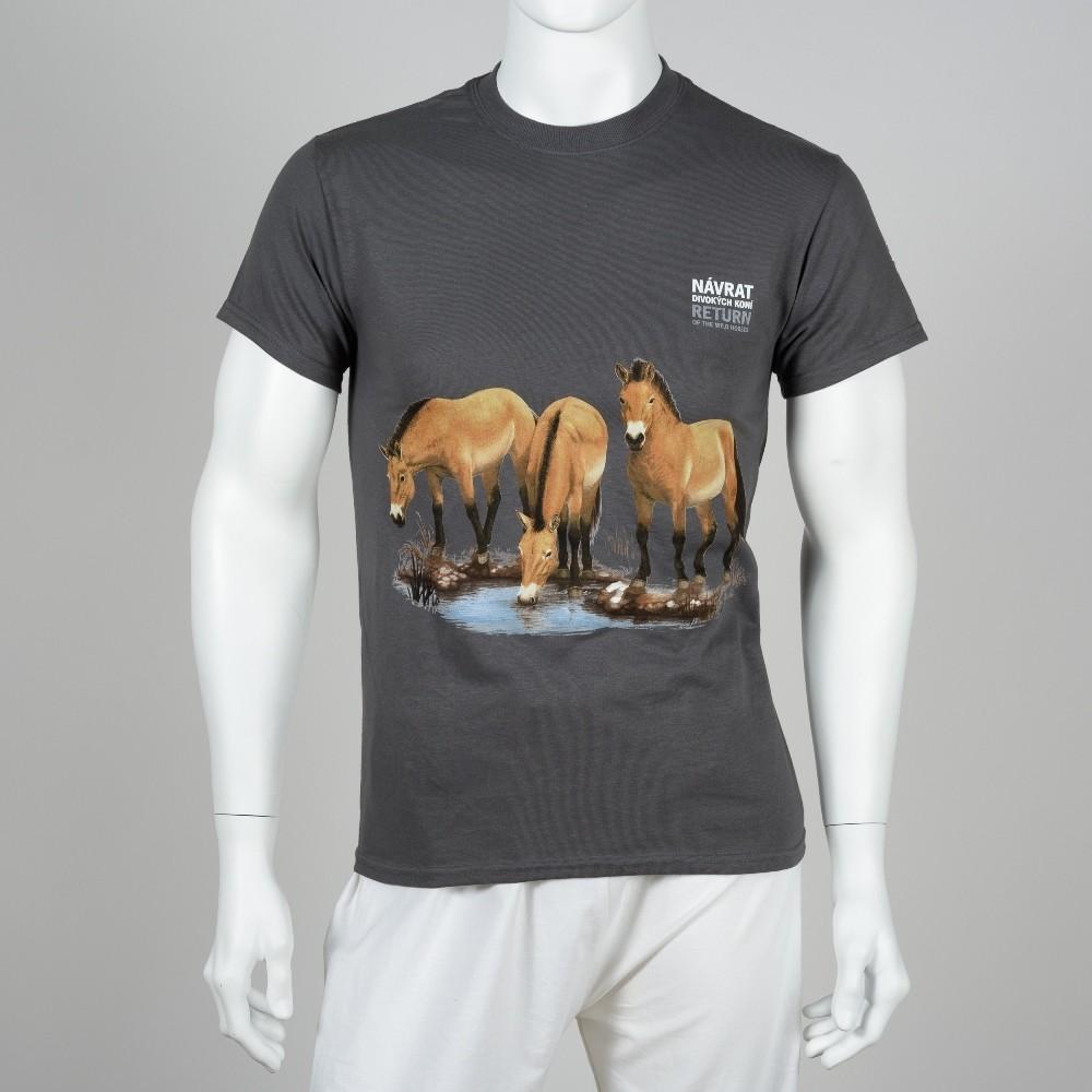"""Unisex tričko s motivem """"Návrat divokých koní"""", rok 2018"""