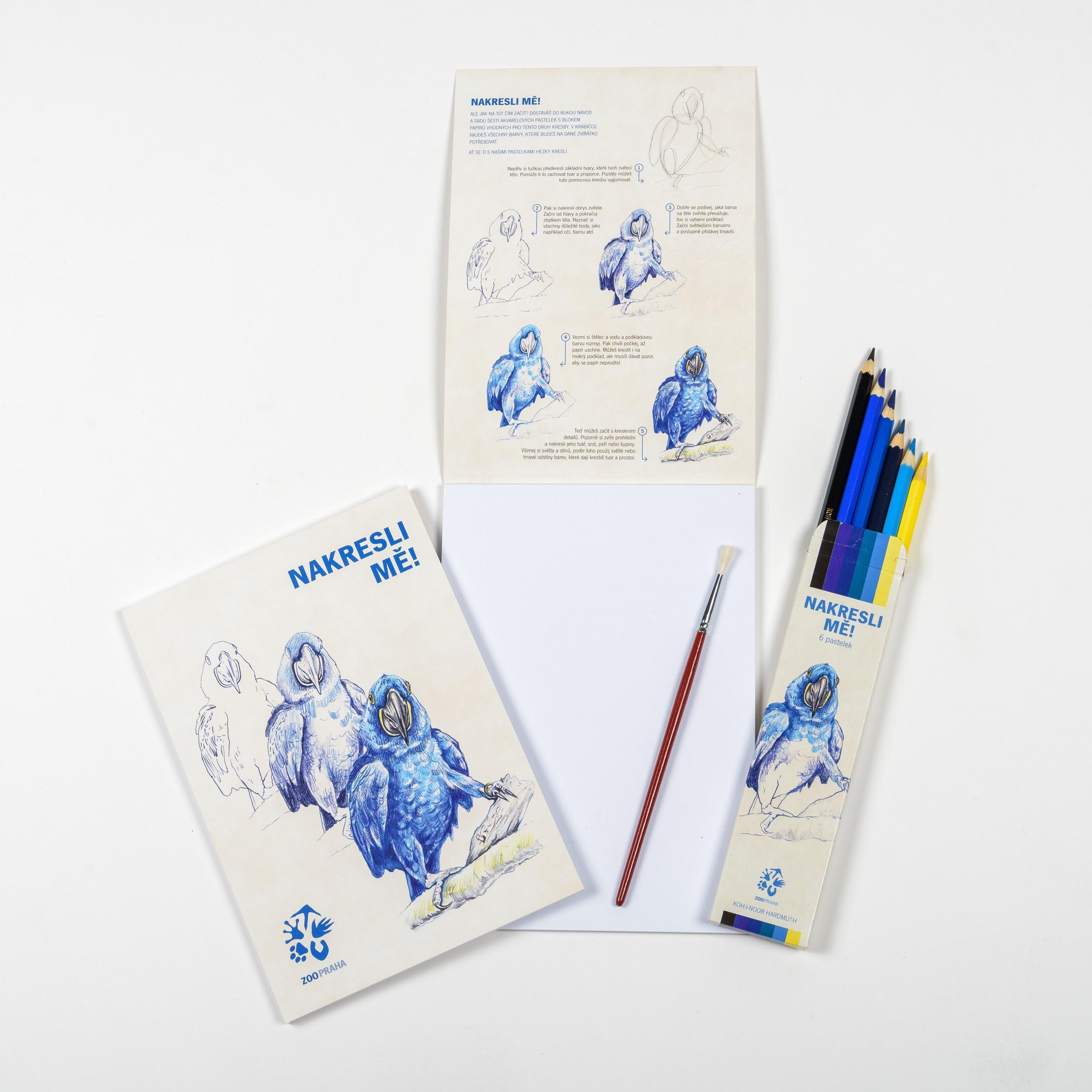 Nakresli mě ! – ara hyacintový