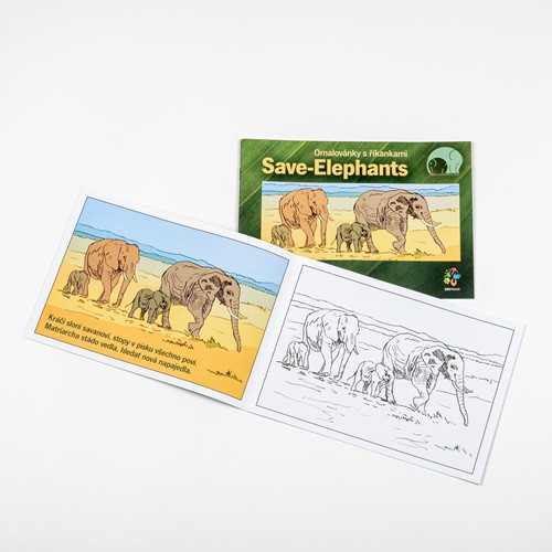 """Omalovánky s říkankami """"Save-Elephants"""""""