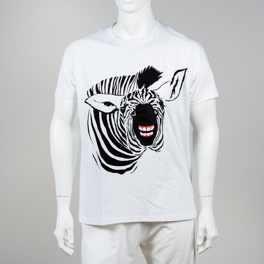 Unisex tričko se zebrou