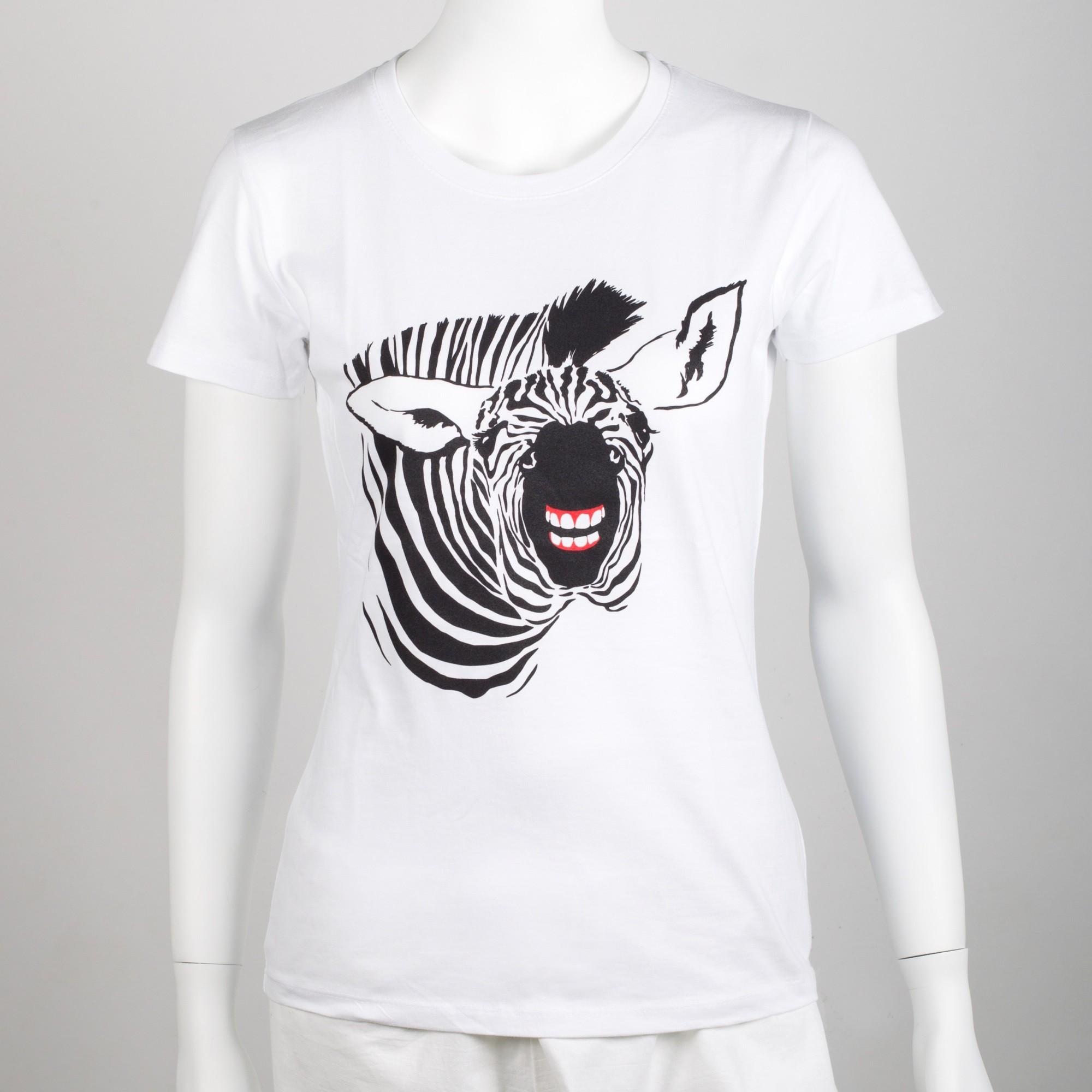 Dámské tričko se zebrou