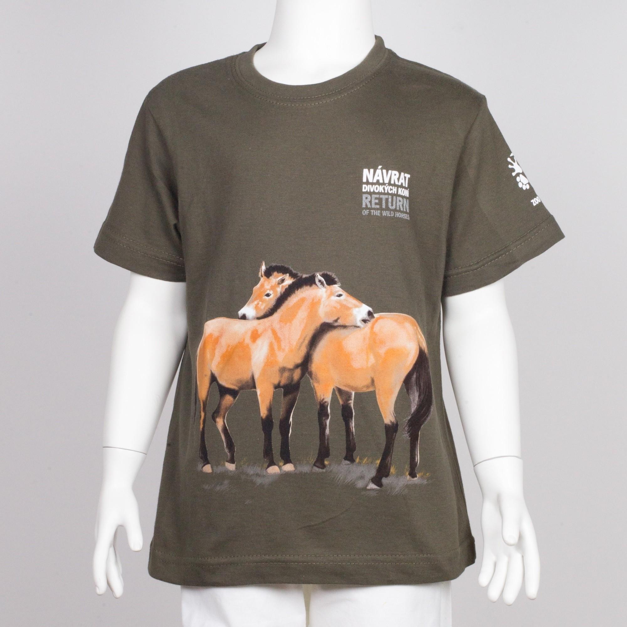 """Dětské tričko s motivem """"Návrat divokých koní"""", rok 2019"""