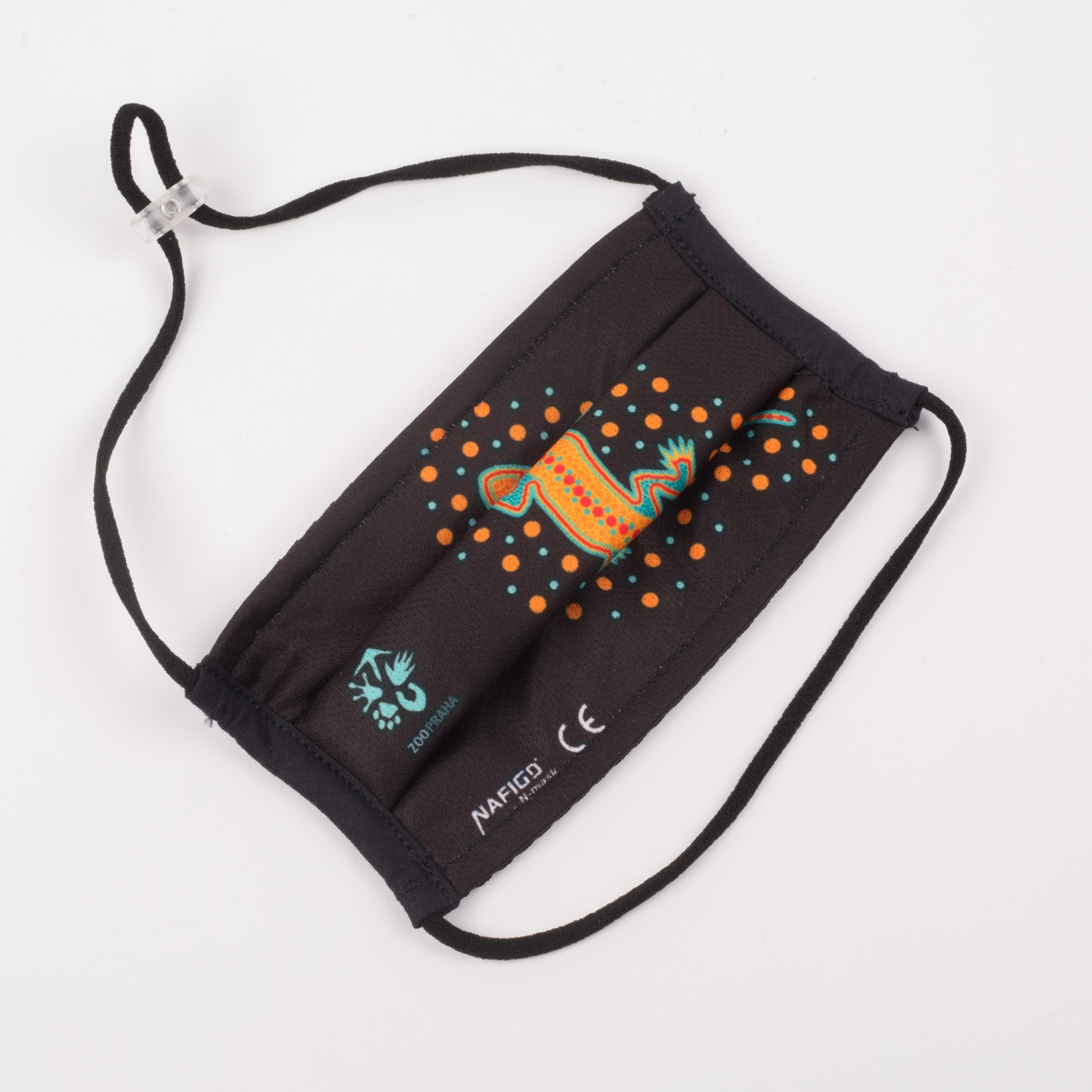 Certifikovaná dětská nanorouška s ochranou úrovně FFP2 – motiv s gekonem