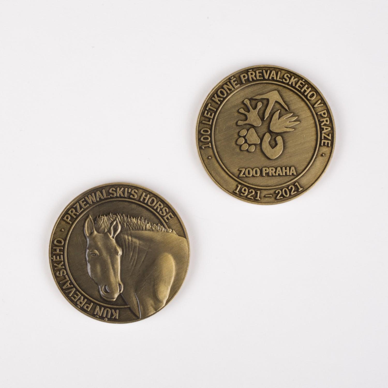 Pamětní medaile 100 let chovu koní Převalského v Praze